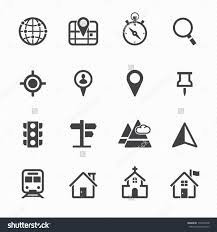 Map Icon Stock Vector Map Icons And Location Icons With White Background