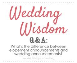 elopement announcements the difference between elopement announcements and wedding