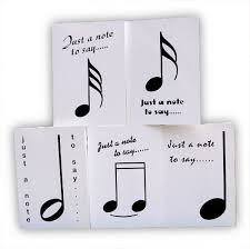 musical note cards and musical thank you cards musical gifts