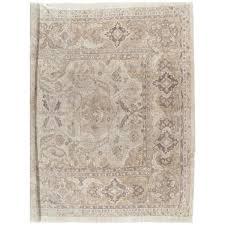 Neutral Persian Rug Antique Sultanabad Carpet Handmade Oriental Rug Neutral Tn Wool