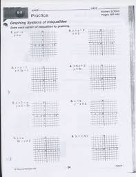 graphing equations and inequalities worksheet free worksheets