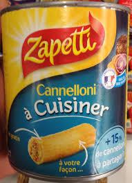 a cuisiner cannelloni à cuisiner zapetti 800 g 600 g égoutté