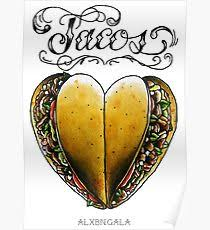taco tattoo posters redbubble