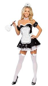 French Maid Halloween Costumes French Maid Halloween Costume 4 Pcs Vinyl