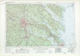 Map Of Richmond Virginia by Richmond Topographic Maps Va Md Usgs Topo Quad 37076a1 At 1