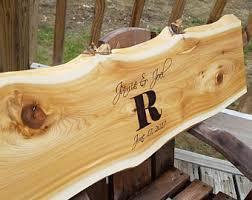 wood slab wood slab guest book etsy