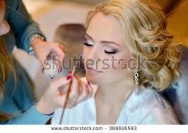 bridal makeup artist websites wedding makeup artist make stock photo 388616593