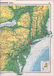 Northeast Map Usa by 1940 U0027s Pennsylvania Maps