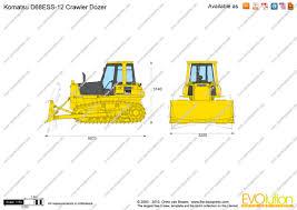 the blueprints com vector drawing komatsu d68ess 12 crawler dozer