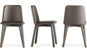 Beige Leather Dining Chairs Chip Leather Dining Chair Hivemodern Com