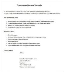 Programmer Resume Example by Sample Programmer Covering Letter Computer Programmer Cover