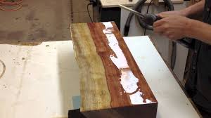 Two Part Epoxy Resin Bar Top How To Bar Top Epoxy Live Edge Bubinga Youtube