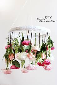 diy flower chandelier u2013 easy shabby chic room u0026 apartment project