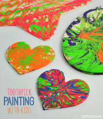easy toothpick painting with