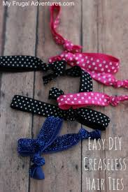 ribbon hair ties how to make creaseless hair ties about 40 each my frugal