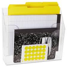 three pocket file folder organizer by rubbermaid rub96050ros