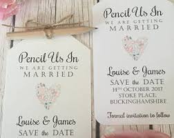 wedding invitations and save the dates wedding save the dates etsy uk