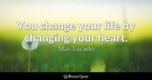 you change your by changing your max lucado