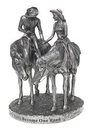 western wedding cake topper western horses cowboy wedding cake topper statue