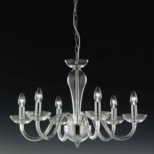 Silver Chandelier Elstead Oxford 6 Light Chrome Silver Candle Chandelier