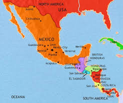 anerica map map of mexico and central america at 1914ad timemaps