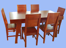 vintage dining room design with cherry wood breakfast table sets