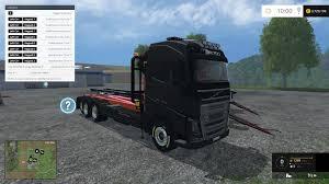 2015 volvo tractor lantmannen volvo hkl x2 truck with crane v1 0 farming simulator