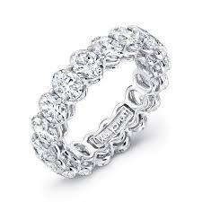 oval cut diamond uneek platinum oval cut eternity band etov400