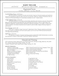 Resume Template Sample by Nursing Resumes Templates