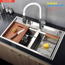 cucina kitchen faucets aliexpress buy bowl stainless steel kitchen sink with