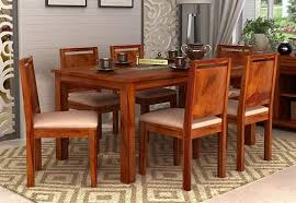 Seater Dining Table Online  Six Seater Dining Table Set India - 4 chair dining table designs