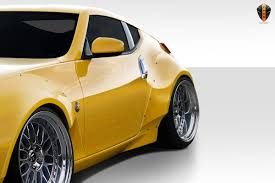 nissan 370z yellow paint code 09 13 fits nissan 370z circuit duraflex 75mm rear fender flares