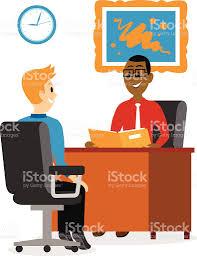 clipart uomo giovane uomo ottenere un colloquio di lavoro e clipart immagini