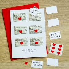 Birthday Love Letters For Her Six Love Note Mini Envelope Valentine U0027s Card By Berylune