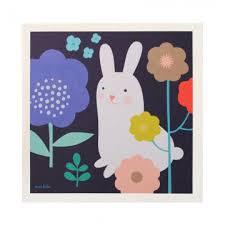 rabbit poster white rabbit poster mini labo