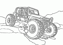 mini monster truck coloring page for kids transportation coloring