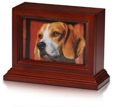 wooden pet urns 4 x 6 wooden photo frame pet urn with base in cherry b013