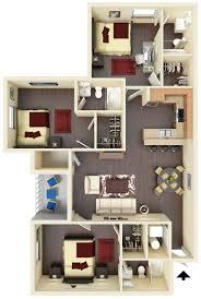 3 Bedroom Apartments Floor Plans by Off Campus Wvu Housing 3 Bedroom 3 Bath Floorplan West Run