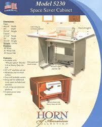 Horn Sewing Chair Reviews Horn 5230el Electric Lift Space Saver Cabinet