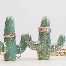 ceramic dolphin ring holder images Diy cactus ring holder pinterest cacti tutorials and ring jpg
