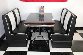 american diner set with high gloss black table just americana