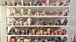 how to organize a woman u0027s master closet shoe storage