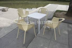 Wicker Style Outdoor Furniture by Stacking Plastic Garden Furniture Rattan Style Outdoor Chair In