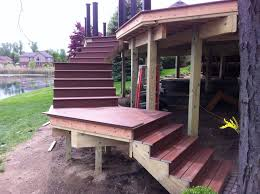 outdoor stairs lighting composite deck stairs silo christmas tree farm