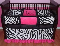 Pink Zebra Home Decor Formidable Pink Zebra Print Crib Bedding Marvelous Small Home