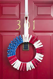 4th of july clothespin wreath missbutterbean