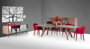 modrest kennedy modern walnut dining table by vig furniture
