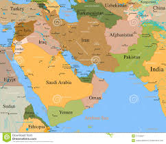 World Map Middle East map middle east vector detailed royalty free stock photography