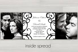 wedding invitations black and white tri fold black and white wedding invitations photo card chef