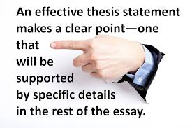 write a good thesis statement exercise in identifying effective thesis statements